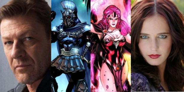 Sean Bean, Ares, Circe e Eva Green.