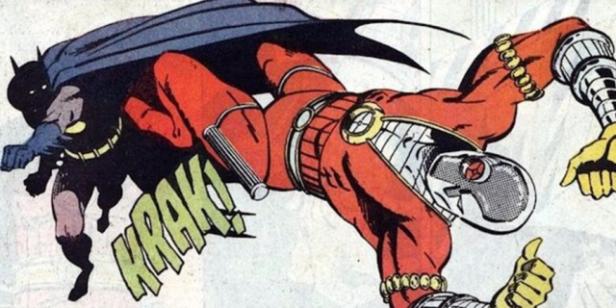 Batman vs. Pistoleiro nos quadrinhos.