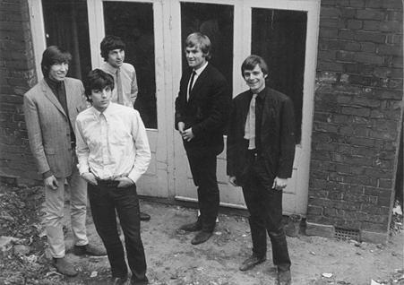 O Pink Floyd embrionário de 1965: Waters, Barrett, Mason, Klose e Wright.