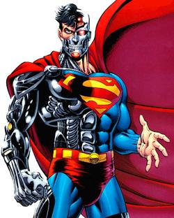 O Superciborgue nos quadrinhos.