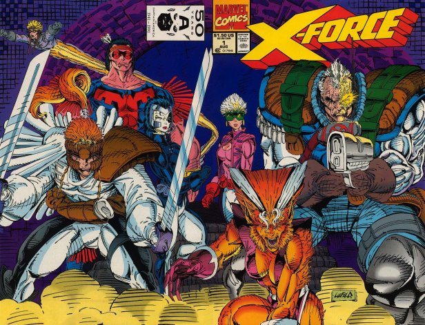 A X-Force original na arte de Rob Liefeld.