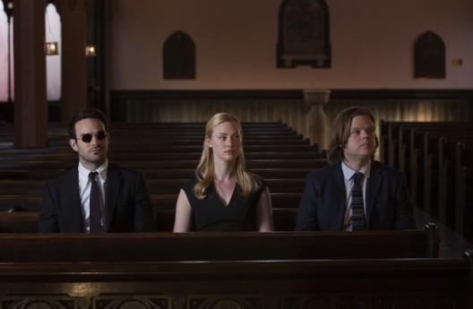 O trio Matt Murdock, Karen Page e Foggy Nelson: elenco ótimo.