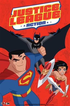 Imagem do novo cartoon da Liga da Justiça.