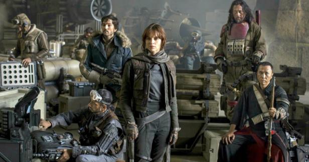 A trupe diversificada de Rogue One.