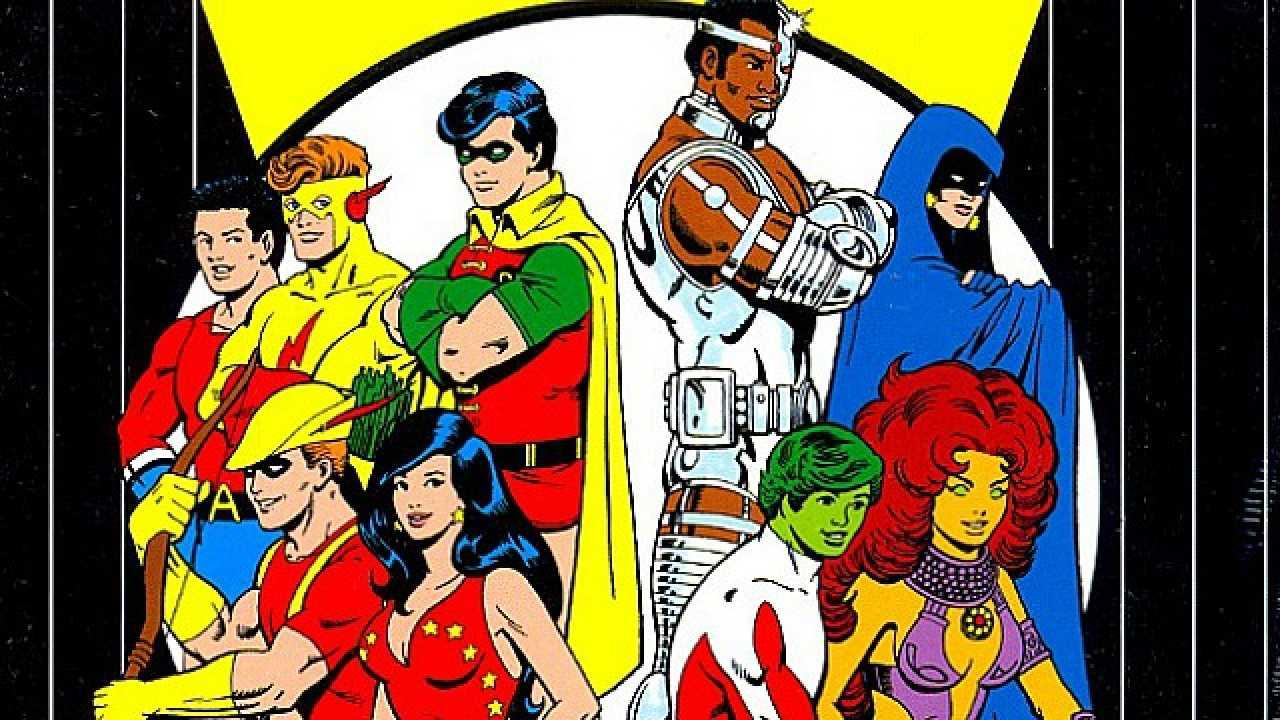 teen-titans classic and new by george perez pin-up