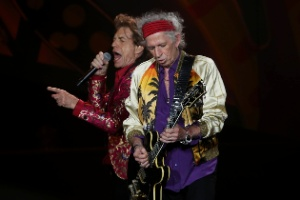 Jagger e Richards: compositores do grupo.
