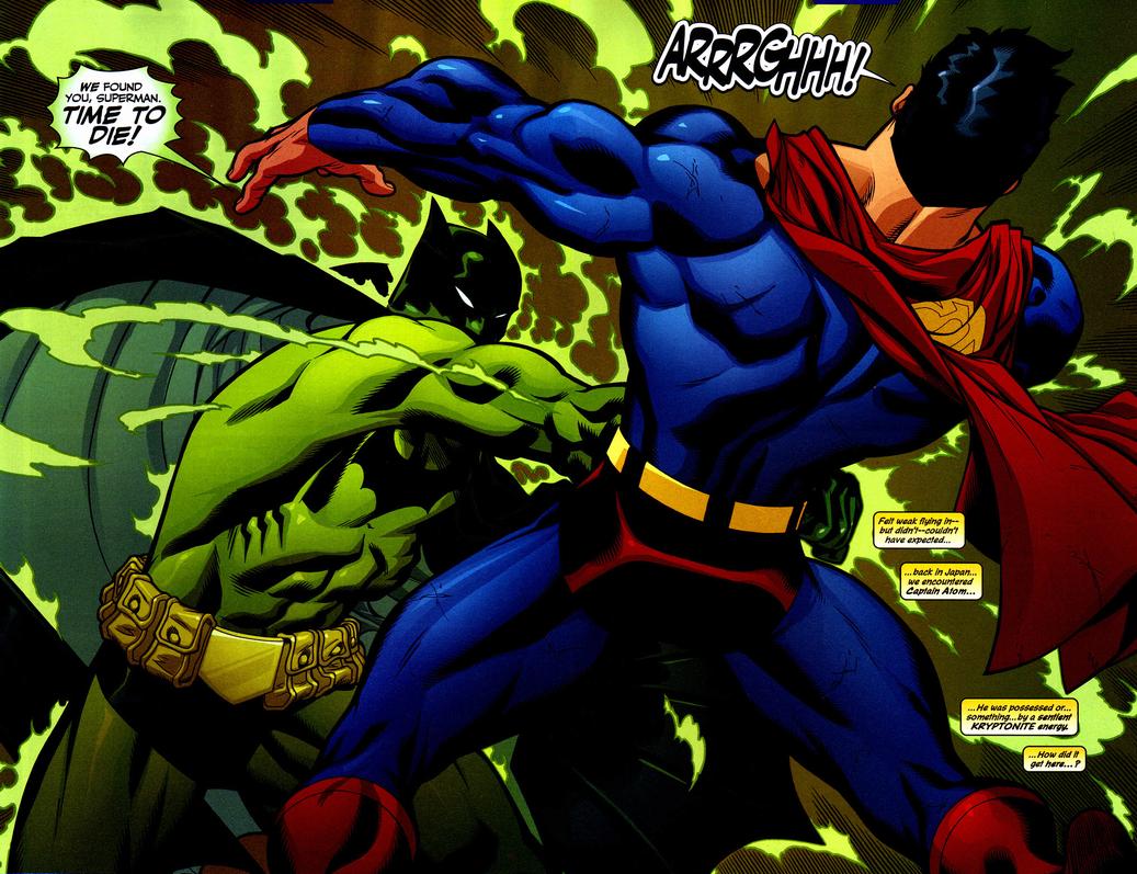 Batman (Homem de Kryptonita) versus Superman.