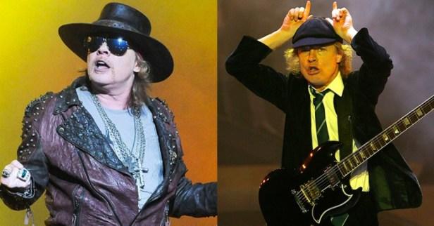 Axl Rose e Angus Young: união?