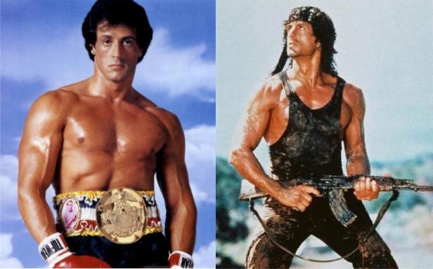 Rocky e Rambo: duas franquias de sucesso nos anos 1980.