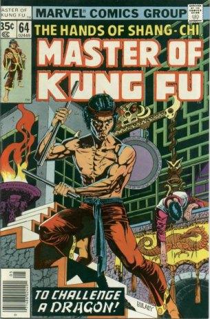 Mestre do Kung Fu: sucesso nos anos 1970. Arte de Paul Gulacy.