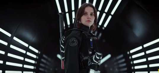 Felicity Jones, a protagonista de Rogue One.