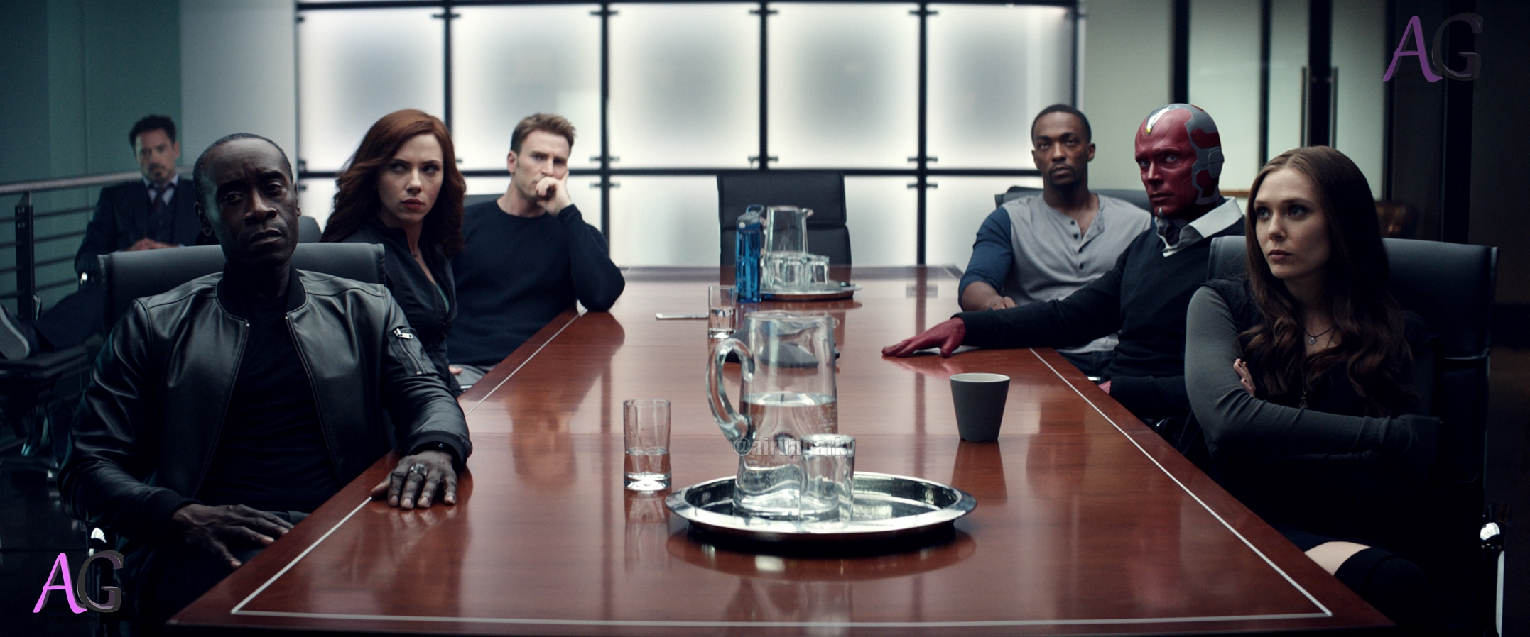 civilwar hi-res avengers in the table