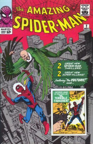 O Abutre na capa de Amazing Spider-Man 02. Arte de Steve Ditko.