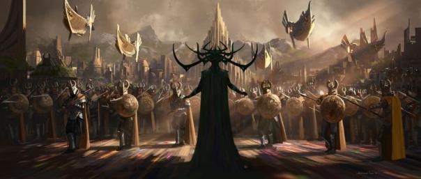 Primeira arte promocional de Ragnarok mostra Hela.