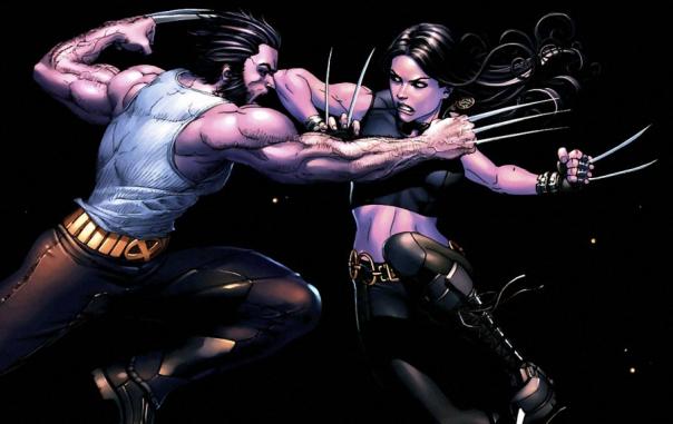 Wolverine versus X-23 nos quadrinhos. Mas os dois se tornaram amigos.