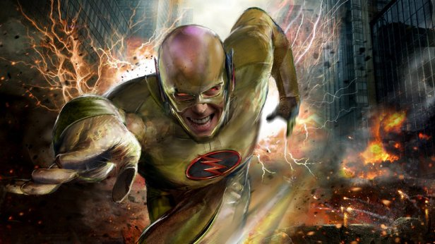 flash tv reverse flash promo  art running