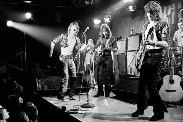 Os Stones ao vivo em 1971.