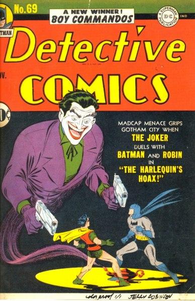 A famosa capa de Detective Comics 69, por Jerry Robinson.
