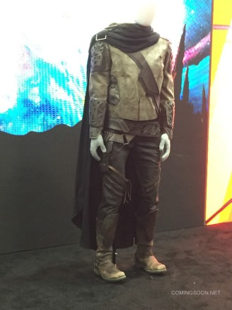 ... e roupa de Ego no filme, exibida na Comic-Con.