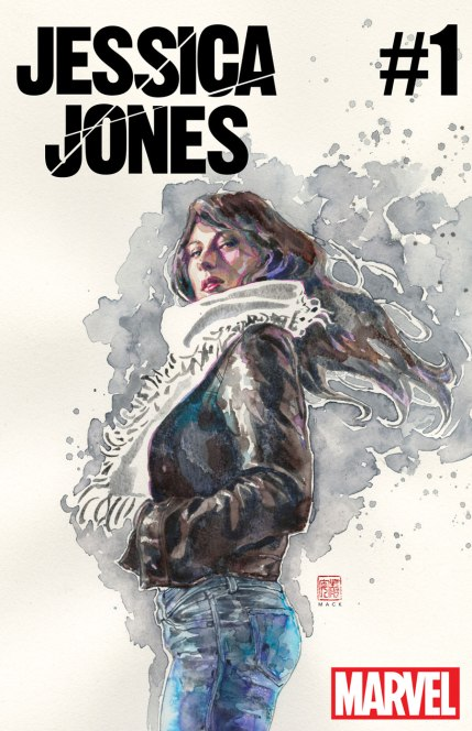 A capa da nova Jessica Jones, por David Mack.