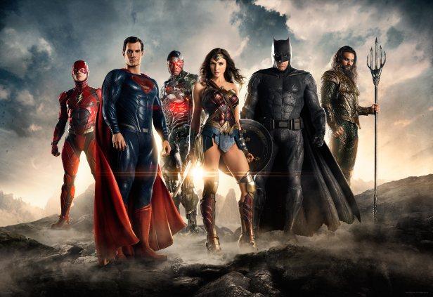 A Liga da Justiça na imagem oficial.