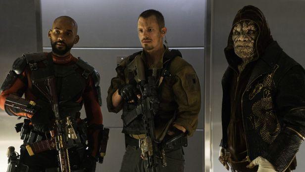 Pistoleiro, Rick Flagg e Crocodilo.