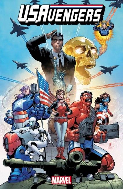 Capa de USAvengers 01, com Roberto da Costa em destaque.