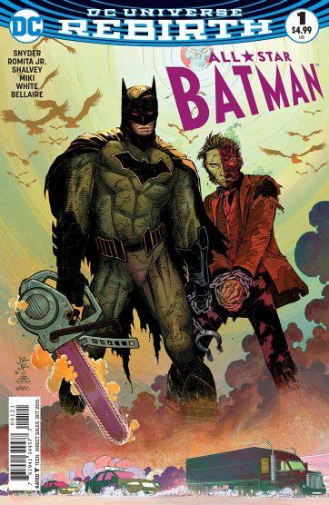 Uma das várias capas de All-Star Batman, na arte de John Romita Jr.