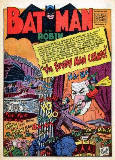 Um Coringa mais comediante, em Batman 57.