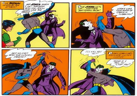 Lua entre Batman e Coringa na faca!