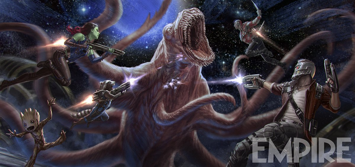 guardians of the galaxy 2 concept art space beast
