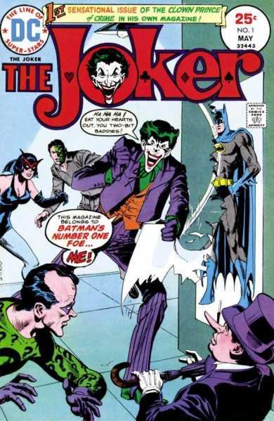 Capa de The Joker 01, de 1975, por José Garcia Lopez.