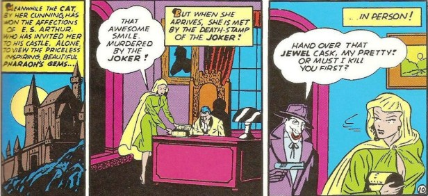 joker and catwoman in batman 02 1940