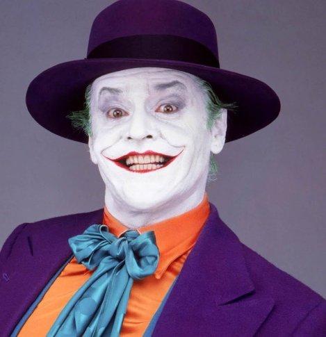 Jack Nicholson como o Coringa.