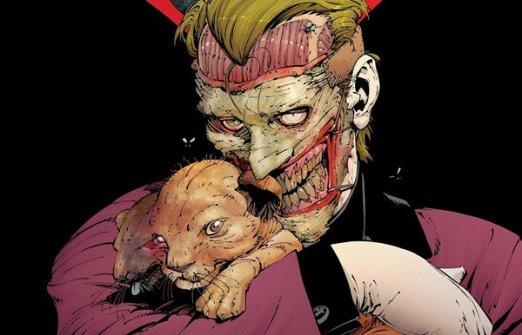 O Coringa horripilante de Greg Capullo, com a própria pele arrancada do rosto!