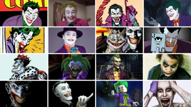 joker various faces