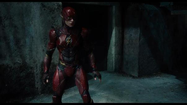 Flash no trailer de Liga da Justiça.
