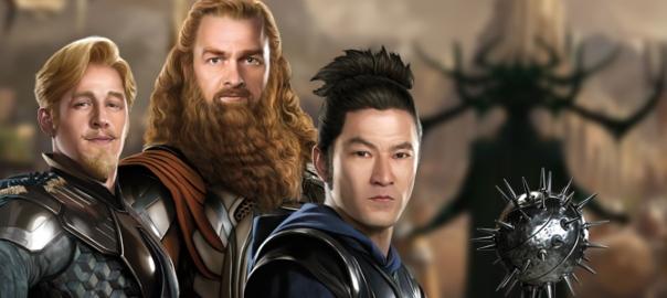 Os Três Guerreiros: de volta.