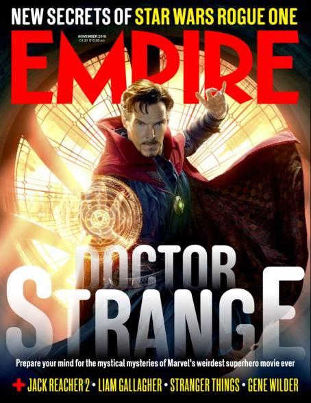 A capa da Empire, com o Dr. Estranho.