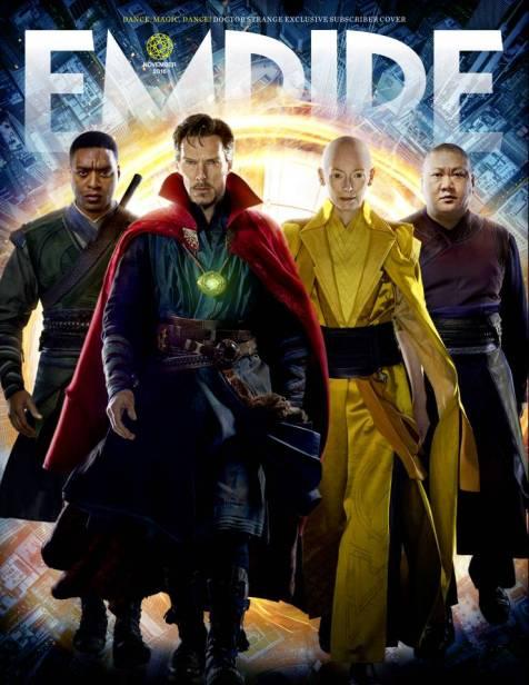 A capa variante mostra Barão Mordo, Dr. Estranho, A Anciã e Wong.