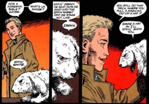 Steve Dillon em Hellblazer, com John Constantine.