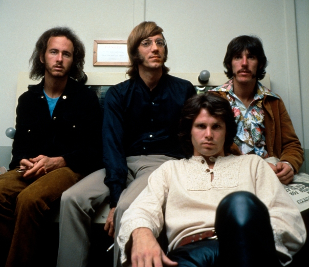The Doors em 1968: rock psicodélico.