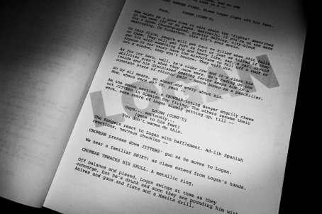 A página do roteiro.