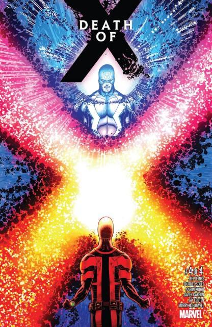 Capa de Death of X 04, com Raio Negro e Ciclope.