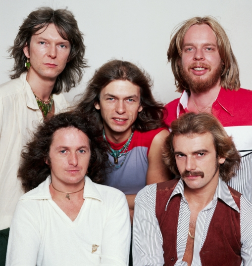 A banda Yes em seus tempos áureos: Hall da Fama.