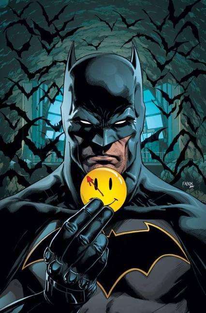 Batman e o botom do Comediante.