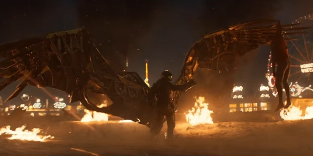 homecoming trailer vulture with spidey desmasked
