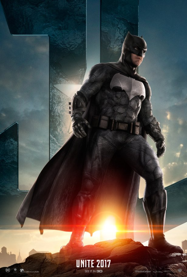 justiceleague movie first poster caracters batman