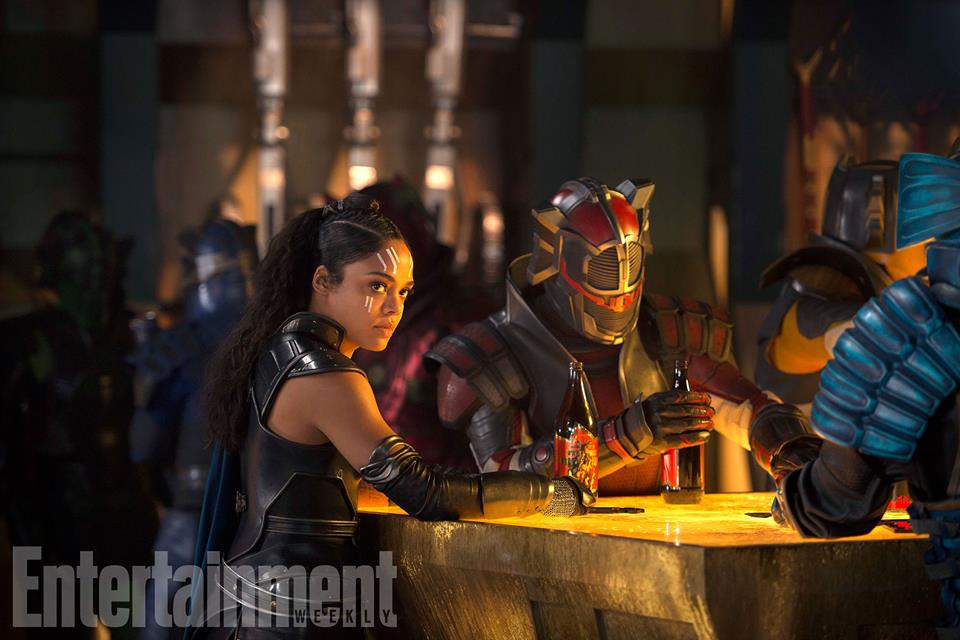 thor ragnarok EW valkyrie in the bar
