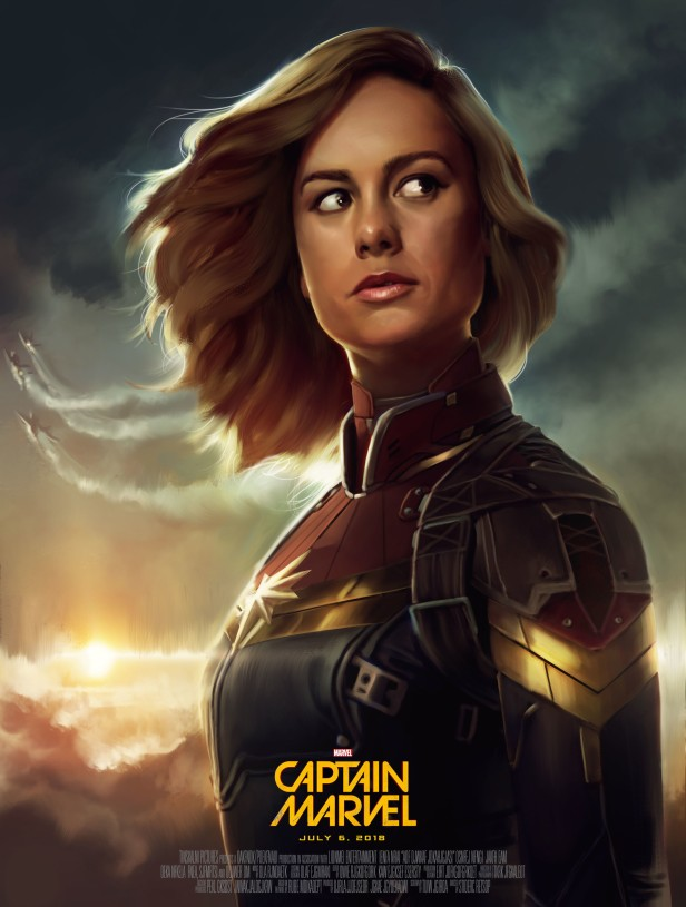 captain marvel fan art poster